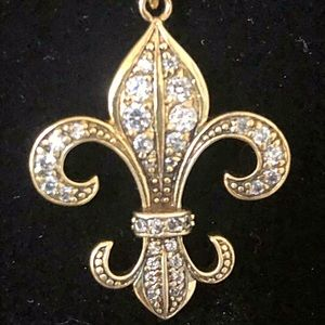 Jewelry - Gold covered sterling fleur de lis necklace